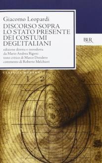 Libro Discorso sopra lo stato presente dei costumi degl'italiani