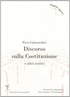 Libro Discorso sulla Costituzione agli studenti di Milano