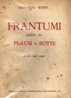 Libro Frantumi: seguiti da plausi e botte