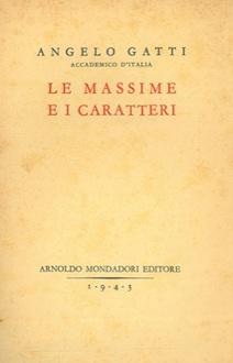 Libro Le massime e i caratteri