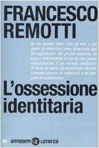 Libro L'ossessione identitaria