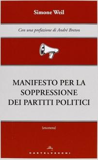 Libro Manifesto per la soppressione dei partiti politici