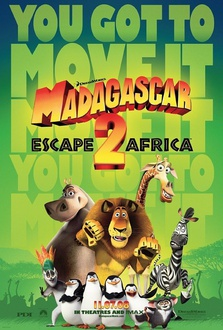 Cartone Madagascar 2 - Via dall'isola