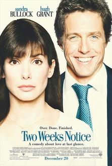 Film Two weeks notice - Due settimane per innamorarsi